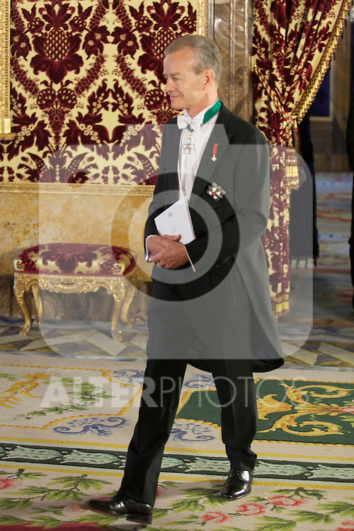 King of Spain Felipe VI receives and gives credential letters to Belgium Kingdom´s ambassador Henri T. Labouverie at Royal Palace `Palacio Real´in Madrid, Spain. October 06, 2014. (ALTERPHOTOS/Victor Blanco)
