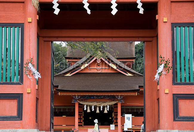 Photo shows Fujisan Hongu Sengen Taisha in Fujinomiya City, Shizuoka Prefecture Japan on 01 Oct. 2012.  Photographer: Robert Gilhooly