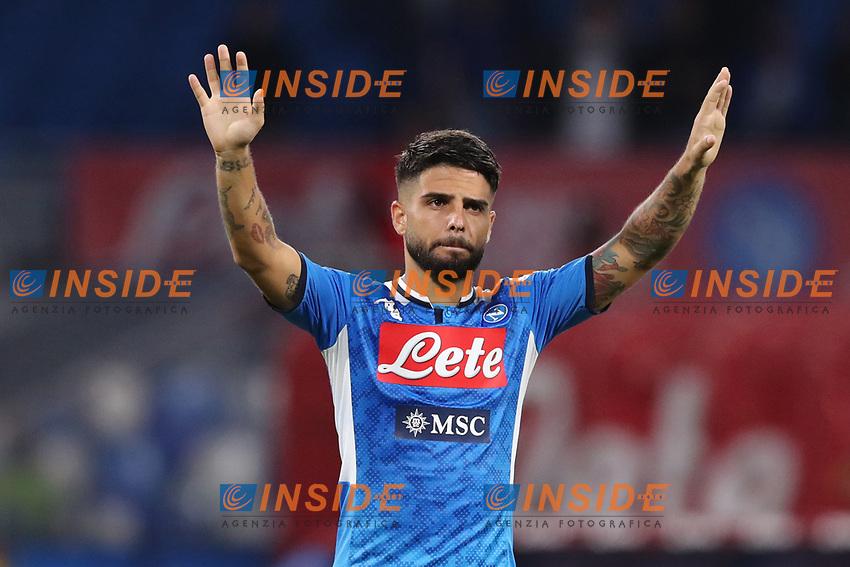 Lorenzo Insigne of Napoli greets <br /> Napoli 25-9-2019 Stadio San Paolo <br /> Football Serie A 2019/2020 <br /> SSC Napoli - Cagliari SC<br /> Photo Cesare Purini / Insidefoto