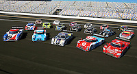 Daytona Prototype group shot:  Ready to race in the Rolex 24 at Daytona, Daytona International Speedway, Daytona Beach, FL, January 2011.  (Photo by Brian Cleary/www.bcpix.com)