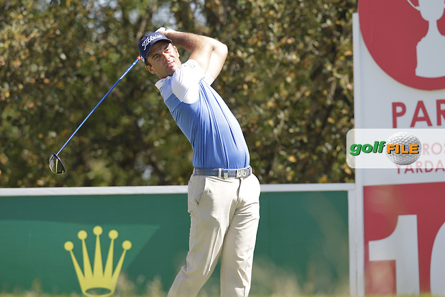 Ricardo Santos (POR) tees off the 10th tee during Thursday's Round 1 of the 2014 Open de Espana held at the PGA Catalunya Resort, Girona, Spain. Wednesday 15th May 2014.<br /> Picture: Eoin Clarke www.golffile.ie