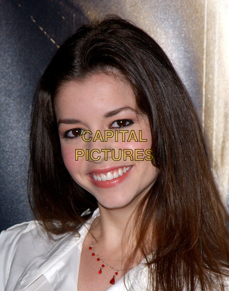 MASIELA LUSHA.World Premiere of Taking Lives held at The Grauman's Chinese Theatre in Hollywood, California .16 March 2004.*UK Sales Only*.headshot, portrait, necklace.www.capitalpictures.com.sales@capitalpictures.com.©Capital Pictures.