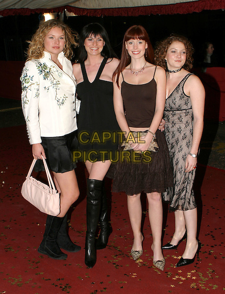 EMMERDALE ACTRESSES.JULIA MALLAM, LUCY PARGETER, AMY NUTTALL & ABIGAIL FISHER.An Audience With The England Rugby Team, LWT Studios.15 December 2003.www.capitalpictures.com.sales@capitalpictures.com.© Capital Pictures..