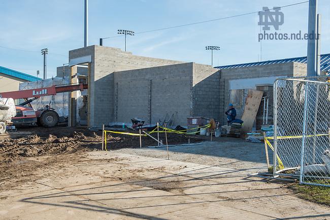 March 22, 2017; Eck Baseball Stadium construction. (Photo by Barbara Johnston/University of Notre Dame)
