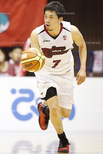 Ryusei Shinoyama (Brave Thunders),<br /> May 21, 2014 - Basketball : <br /> National Basketball League &quot;NBL&quot; FINALS 2013-2014 GAME 1 match between Wakayama Trians 61-69 Toshiba Brave Thunders <br /> at Kawasaki Todoroki Arena, Kanagawa, Japan. <br /> (Photo by AFLO SPORT)