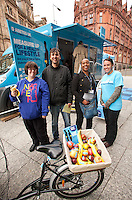 Pictured from left: Kyle Green, Azim Khan and YvonneTucker from Nottingham Community Housing Association and Simone Fryer from Diabetes UK