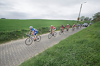 James Vanlandschoot (BEL/Wanty-GroupeGobert) leading the breakaway group (and thus the race)<br /> <br /> Ronde van Vlaanderen 2014