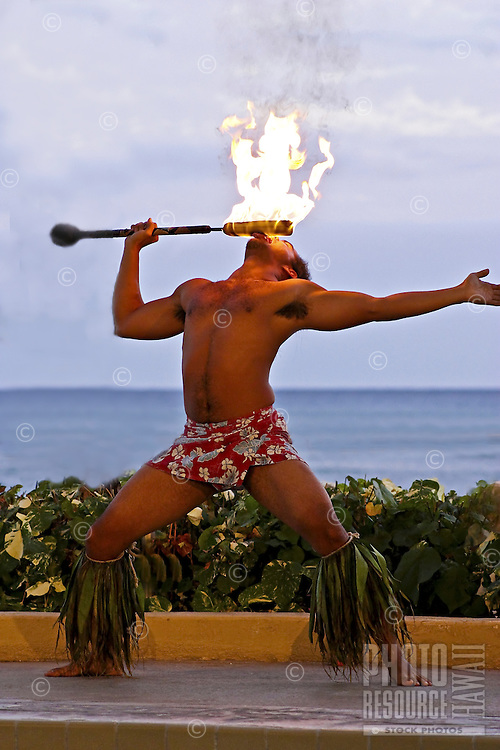 Hawaiian firedancer, Oahu, Hawaii