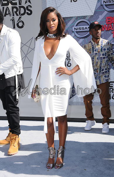 26 June 2016 - Los Angeles. Claudia Jordan. Arrivals for the 2016 BET Awards held at the Microsoft Theater. Photo Credit: Birdie Thompson/AdMedia