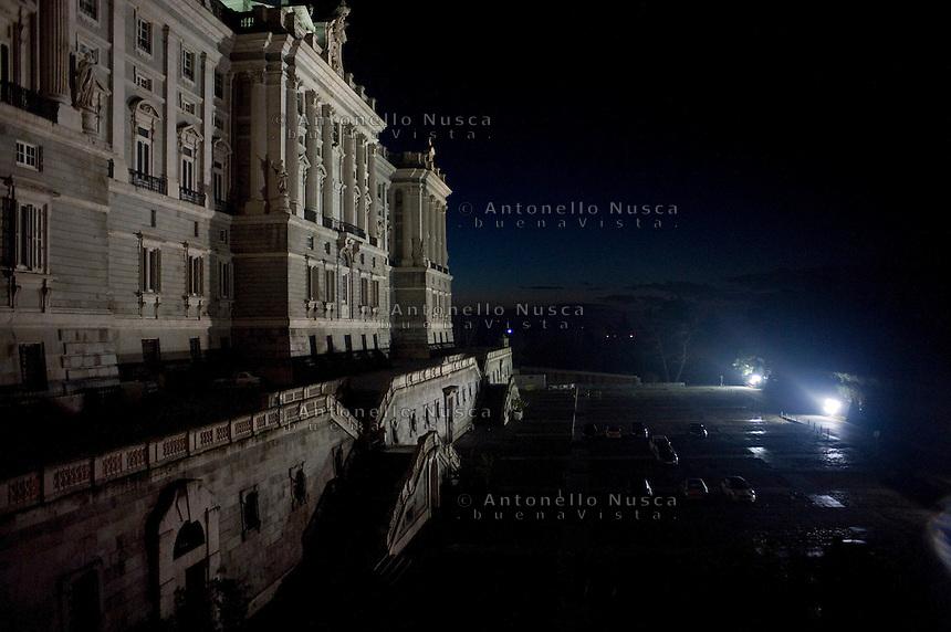 Madrid, Il Palazzo Reale illuminato