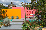 Inland Homes: Beneath a Mexican Sky. Designed by: Manoj Malde. Sponsored by: Inland Homes Plc. RHS Chelsea Flower Show 2017. Stand no. Fresh Garden 74