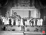A production of H.M.S. Pinafore staged at city hall in Waterbury in 1892.