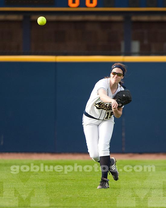 University of Michigan softball 4-2 loss to Iowa at Alumni Field in Ann Arbor on April 23, 2011.