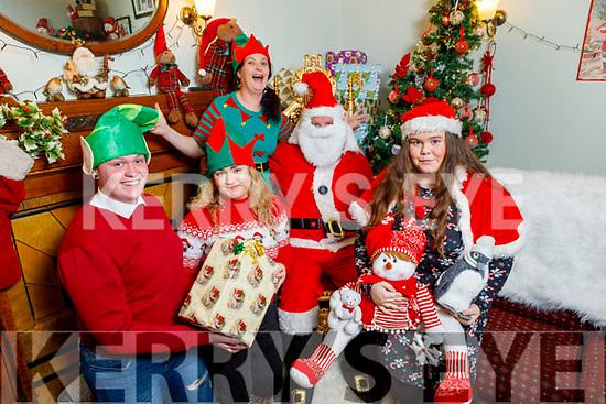 Enjoying the festive season at the the Community Market in Ballybunion on Sunday.<br />  L to r: Vincent Pierce, Katelyn and Linda Foley, Santa Claus, Ella Ward.