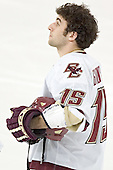 Stephen Gionta - The Boston College Eagles completed a shutout sweep of the University of Vermont Catamounts on Saturday, January 21, 2006 by defeating Vermont 3-0 at Conte Forum in Chestnut Hill, MA.