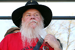 Pat Logan from Viginia City takes part in the scruffiest beard competition in the Nevada Day Beard Contest in Carson City, Nev., on Saturday, October 28, 2017. <br /> Photo by Lance Iversen/Nevada Momentum