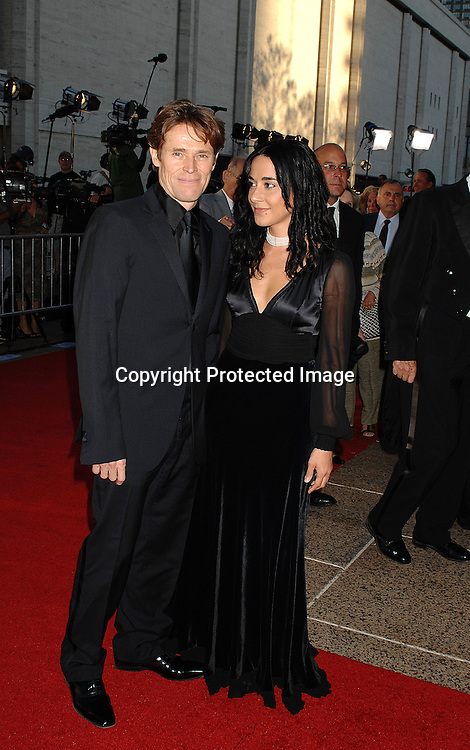 Willem Dafoe and wife Giada..arriving at The Metropolitan Opera 2007-08 Opening Night on September 24, 2007 at The Metropolitan Opera House..in Lincoln Center in New York City. ....photo by Robin Platzer, Twin Images ....212-935-0770