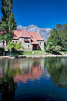 Mt. Whitney Fish Hatchery and reflecting pond. California
