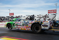 Feb 25, 2019; Chandler, AZ, USA; NHRA super gas driver Trevor Larson during the Arizona Nationals at Wild Horse Pass Motorsports Park. Mandatory Credit: Mark J. Rebilas-USA TODAY Sports