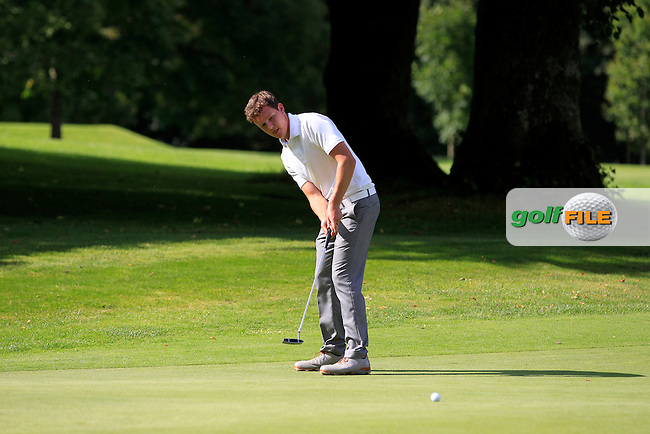 John Ross Galbraith (Whitehead) on the 15th green during round 3 of The Mullingar Electrical Scratch Trophy in Mullingar Golf Club on Monday 4th August 2014.<br /> Picture:  Thos Caffrey / www.golffile.ie