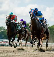 OCEANPORT, NJ - JULY 29: Name Changer, #5, ridden by Jose Ortiz, wins the Monmouth Cup on Haskell Invitational Day at Monmouth Park Race Course on July 29, 2018 in Oceanport, New Jersey. (Photo by Scott Serio/Eclipse Sportswire/Getty Images)