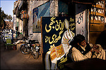 in the back streets of the old city of lahore, a group of wedding organizers advertize their decorated horse carriages and steeds while waiting for customers - winter and spring tend to be the busiest season for Pakistani weddings because of the cooler weather