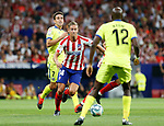 Atletico de Madrid's Marcos LLorente during La Liga match. Aug 18, 2019. (ALTERPHOTOS/Manu R.B.)Atletico de Madrid's Marcos LLorente  during the Spanish La Liga match between Atletico de Madrid and Getafe CF at Wanda Metropolitano Stadium in Madrid, Spain