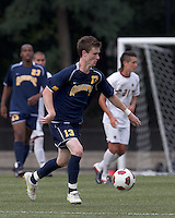 Quinnipiac University midfielder Tim Quigley (13) at midfield. Boston College defeated Quinnipiac, 5-0, at Newton Soccer Field, September 1, 2011.