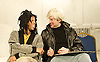 A Thousand Miles of History <br /> by Harold Finley <br /> at The Bussey Building, Peckham, London, Great Britain<br /> press photocall<br /> 5th March 2013 <br /> <br /> Adam Riches as Andy Warhol<br /> <br /> Michael Walters as Jean-Michel Basquiat<br /> <br /> Simon Ginty as Keith Haring<br /> <br /> Lisa Caruccio Came as Mary Boone<br /> <br /> Michael Palmer as Rene Ricard <br /> <br /> <br /> Photograph by Elliott Franks