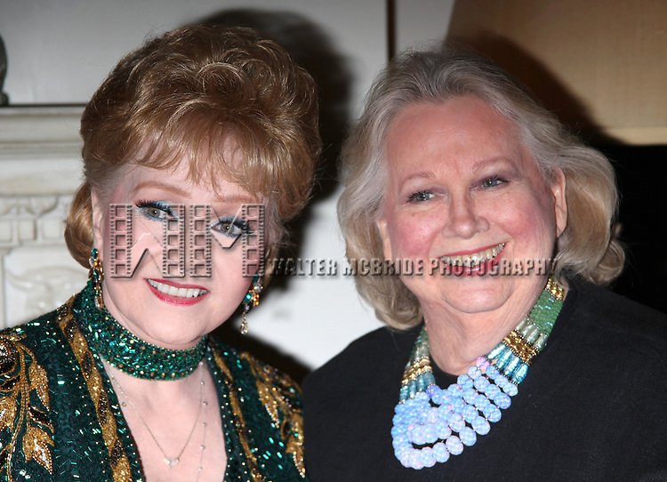 Debbie Reynolds &amp; Barbara Cook<br />attending the Opening Night of Debbie Reynolds at the Cafe Carlyle, Carlyle Hotel in New York City.<br />June 3, 2009