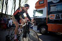 Wout Van Aert (BEL/Vastgoedservice-Golden Palace) warming up<br /> <br /> Jaarmarktcross Niel 2014