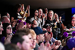 CLAYTON, MO - APRIL 14: Fans cheer during the Division I Women's Bowling Championship held at Tropicana Lanes on April 14, 2018 in Clayton, Missouri. Vanderbilt University defeated McKendree University 4-3. (Photo by Tim Nwachukwu/NCAA Photos via Getty Images)