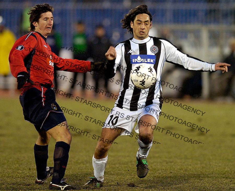 FUDBAL.UEFA CUP.PARTIZAN-CSKA.DRAGAN CIRIC.BGD, 10.03.2005..FOTO: Srdjan Stevanovic/Starsportphoto.com ©