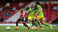Said Benrahma of Brentford takes on the West Brom defence during Brentford vs West Bromwich Albion, Sky Bet EFL Championship Football at Griffin Park on 26th June 2020