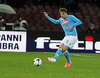 Adriano Henrique  in action during the Italian Serie A soccer match between SSC Napoli and AC Fiorentina   at San Paolo stadium in Naples, March 22 , 2014