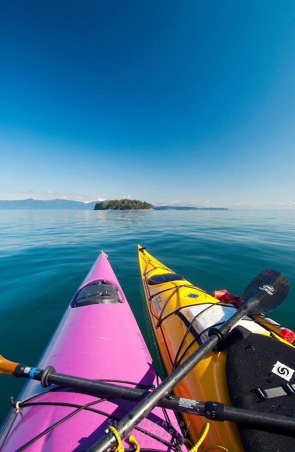 Sea Kayaking the San Juan Islands, WA.