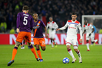 Houssem Aouar of Lyon in action during Lyon vs Manchester City, UEFA Champions League Football at Groupama Stadium on 27th November 2018