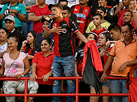 CÚCUTA - COLOMBIA, 08-02-2020: Hinchas de Cúcuta Deportivo animan a su equipo durante partido entre Cúcuta Deportivo y Alianza Petrolera, de la fecha 4 por la Liga BetPlay DIMAYOR I 2020, jugado en el estadio General Santander de la ciudad de Cúcuta. / Fans of Cucuta Deportivo cheer for their team, during a match between Cucuta Deportivo and Alianza Petrolera, of the 4th date for the BetPlay DIMAYOR I Leguaje 2020 at the General Santander Stadium in Cucuta city Photo: VizzorImage / Juan Pablo Bayona / Cont.