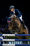 Max Kuhner of Austria riding Clelito Lindo 2 competes in the Maserati Masters Power during the Longines Masters of Hong Kong at AsiaWorld-Expo on 10 February 2018, in Hong Kong, Hong Kong. Photo by Ian Walton / Power Sport Images