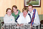QUIZ: Getting the questions right at the Pioneers Table Quiz at The Oyster Tavern, The Spa, Tralee, on Thursday night, were, l-r: Stacey and Rachel Donnellan, Siobhan and Aisling O'Mahony..