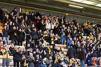 Sutton fans cheer on their team during Cambridge United vs Sutton United , Emirates FA Cup Football at the Cambs Glass Stadium on 5th November 2017