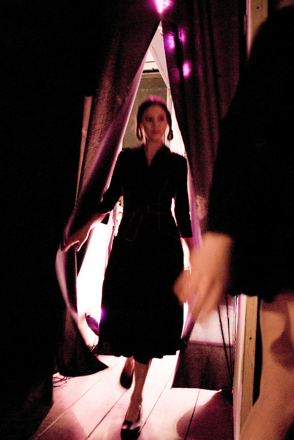 Back stage during the fashion show of Sophie Massun's Collection for fashion week mexico, April, 2008