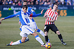 Club Deportivo Leganes's Martin Mantovani, Atletic de Bilbao's Iker Muniain  during the match of La Liga between Leganes and Athletic Club at Butarque Stadium  in Madrid , Spain. January  14, 2017. (ALTERPHOTOS/Rodrigo Jimenez)