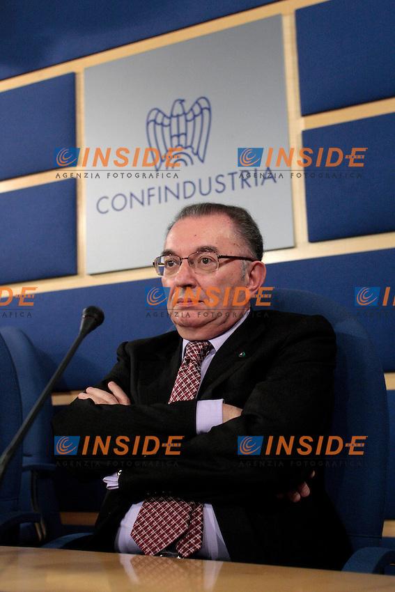 Giorgio Squinzi.Roma 22/03/2012 Il Direttivo di Confindustria ha eletto il nuovo Presidente..Photo Samantha Zucchi Insidefoto