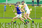 Maurice Corridan Lixnaw in action against Michael O'Regan Kilmoyley in the County Senior Hurling Final at Austin Stack Park Tralee on Sunday.