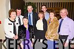 Pictured at the Fealebridge and Headley's Bridge Co-Op 45th Annual Social at the Devon Inn hotel, Templeglantine on Friday night were Front Row, L-R: Betty O'Connell, Abbeyfeale, Kathleen Murphy, Knocknagoshel, Ann Ward, Abbeyfeale, Bernie and Mossie Gleeson, Abbeyfeale. Back Row, L-R: Mossie O'Connell, Abbeyfeale, Donal and Seamus Murphy, Knocknagoshel.