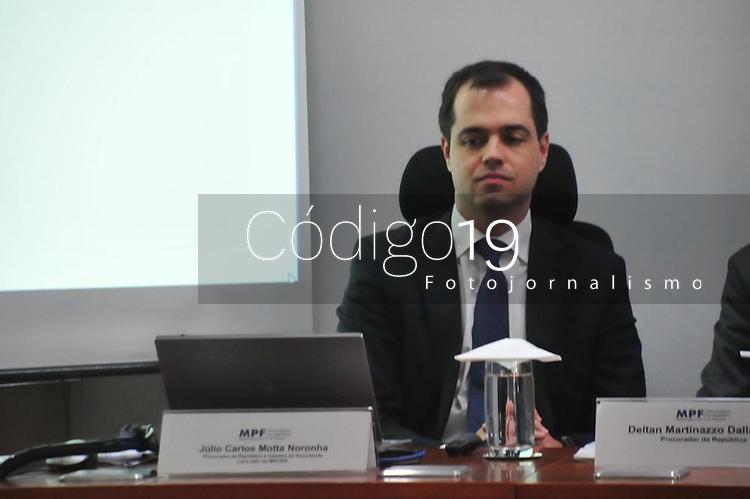 Curitiba (PR), 10/03/202 - Procurador, Julio Carlos Motta Noronha. O Mnisterio Publico Federal (MPF) realiza coletiva de imprensa para mostrar o resultado apos seis anos da forca-tarefa da Lava Jato nesta terca-feira(10) em Curitiba. (Foto: Ernani Ogata/Codigo 19/Codigo 19)