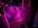 Colourful incense stick making