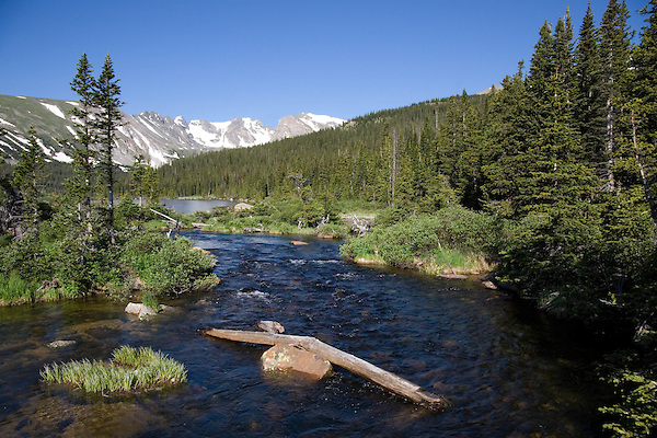 Saint Vrain Creek and Long Lake in the indian Peaks Wilderness Area west of Boulder, Colorado, USA Guided photo tours to Indian Peaks. .  John leads private photo tours throughout Colorado. Year-round Colorado photo tours.