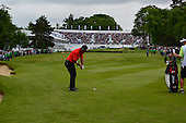 Thongchai JAIDEE (THA) on the 18th during the final round of the 2015 BMW PGA Championship over the West Course at Wentworth, Virgina Water, London. 24/05/2015<br /> Picture Fran Caffrey, www.golffile.ie